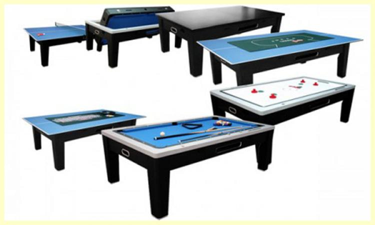 """Игровой стол  """"Трансформер"""" 6 в 1 (пул, аэрохоккей, покер, рулетка, теннис и др."""